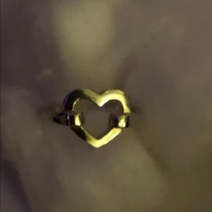 NWOT Sterling Silver stamped 925 heart ring 8